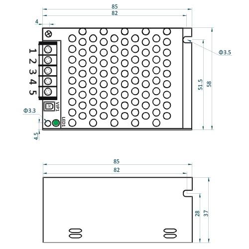 Rysunek techniczny ADL-25-12