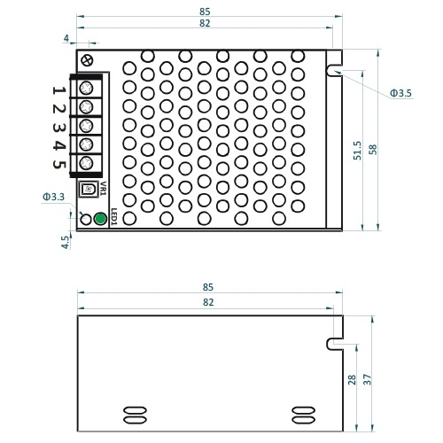 Rysunek techniczny ADL-40-12