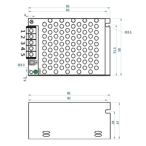 Rysunek techniczny ADL-60-12