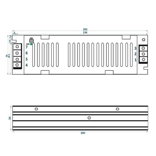 Rysunek techniczny ADLS-150-12