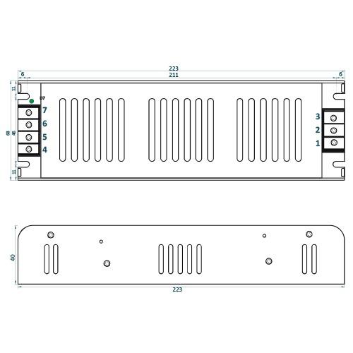 Rysunek techniczny ADLS-200-12