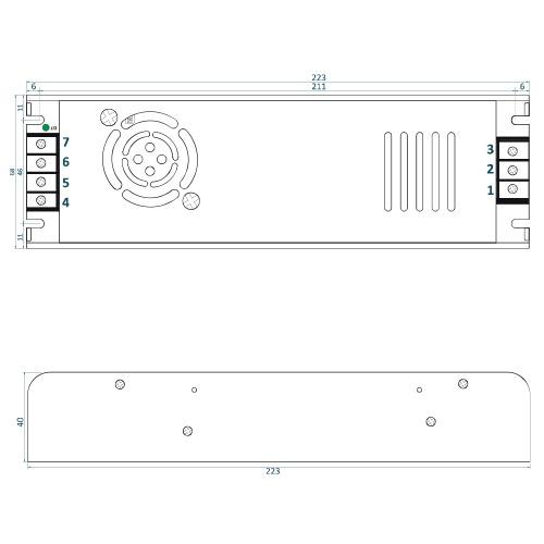 Rysunek techniczny ADLS-360-12